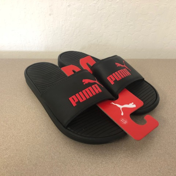 6fff2823c Puma Slides Men s Black Red Bred Pop Cat Size 11